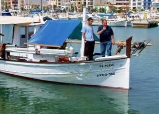Barca de pesca en el Puerto de Pollença