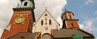 Torres de la catedral de Wawel en Cracovia