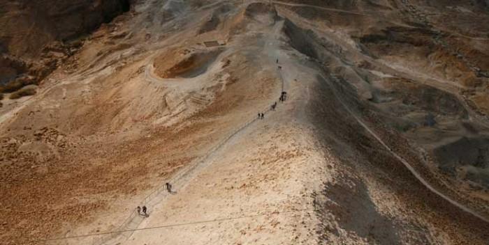 Rampa que construyeron los romanos y por donde subieron el ariete para derribar las murallas de Masada
