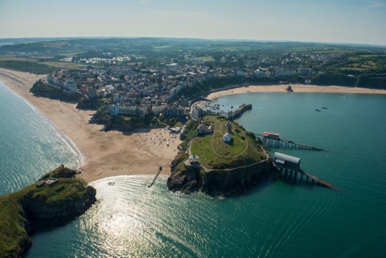 Tenby está situado en la costa de Pembrokeshire