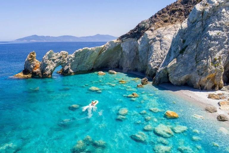 Skiathos, en Grecia