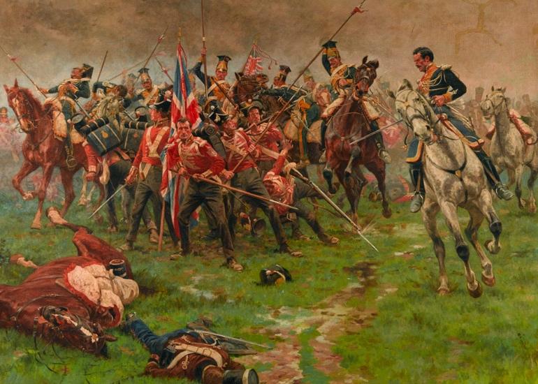Batalla de La Albuera, lienzo de William Barnes Wollen