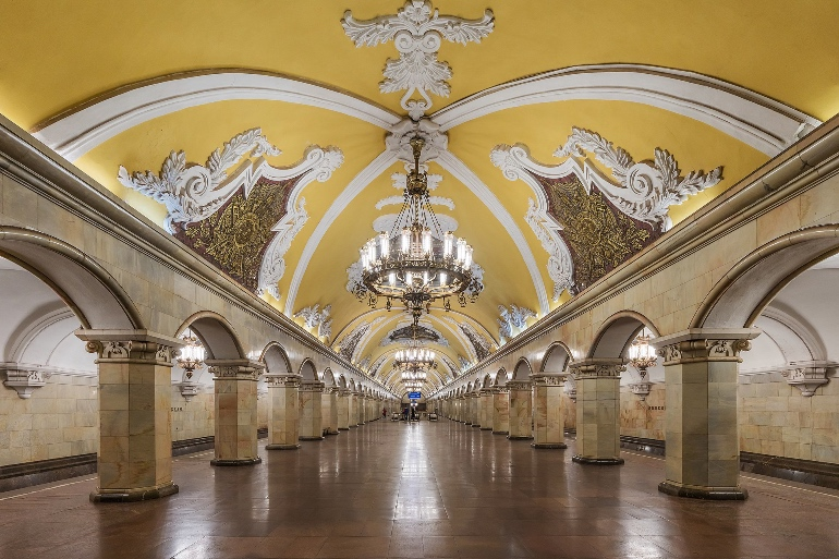 Metro de Moscú. A.Savin (Wikimedia Commons · WikiPhotoSpace)