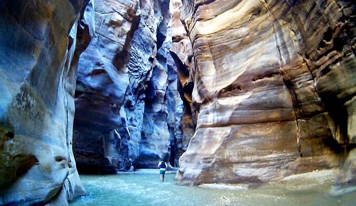 Cañón Wadi Mujib, en Jordania