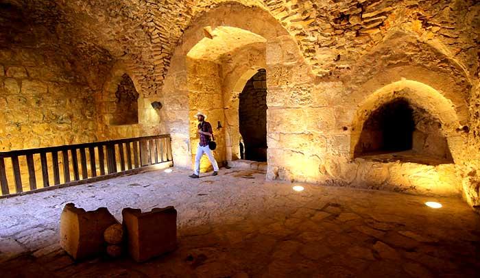 Interior del Castillo de Ajlun, en Jordania