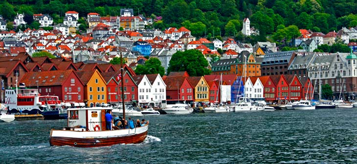 Muelle de Bryggen, en Bergen