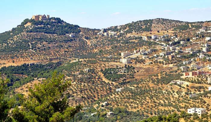 Paisaje de la Reserva Natural de Ajlun, en Jordania