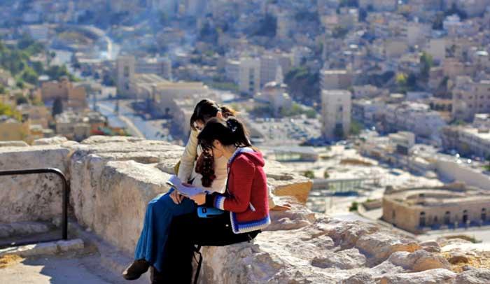 Vistas de Amán desde la Ciudadela