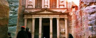 Fachada del Tesoro, el monumento más famoso de Petra
