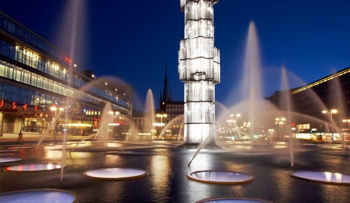 Plaza Segel en Estocolmo. Autor Ola Ericson.