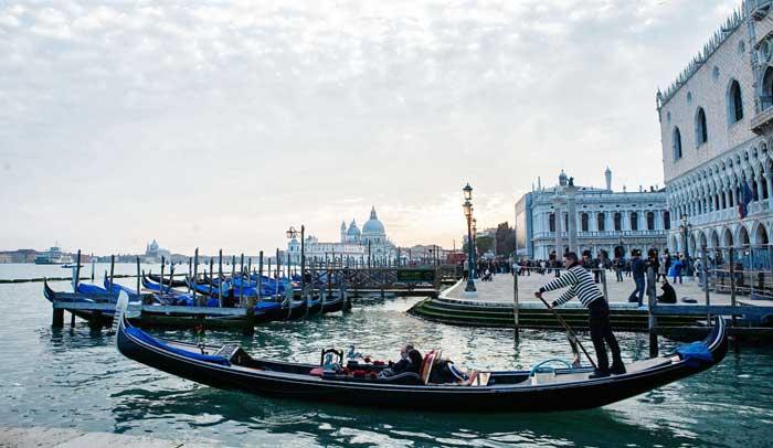 Gondolero en San Marco © Flaminia Pelazzi