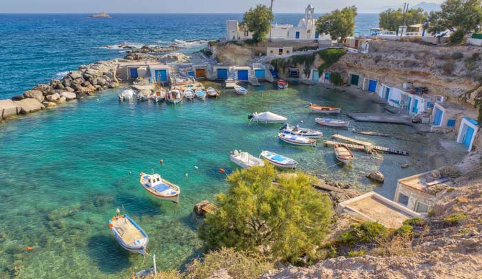 Milos pertenece al archipiélago de las CycladasMilos pertenece al archipiélago de las Cycladas