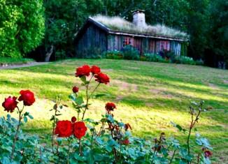 Jardines del Palacio de Solliden, residencia de verano de los reyes de Suecia