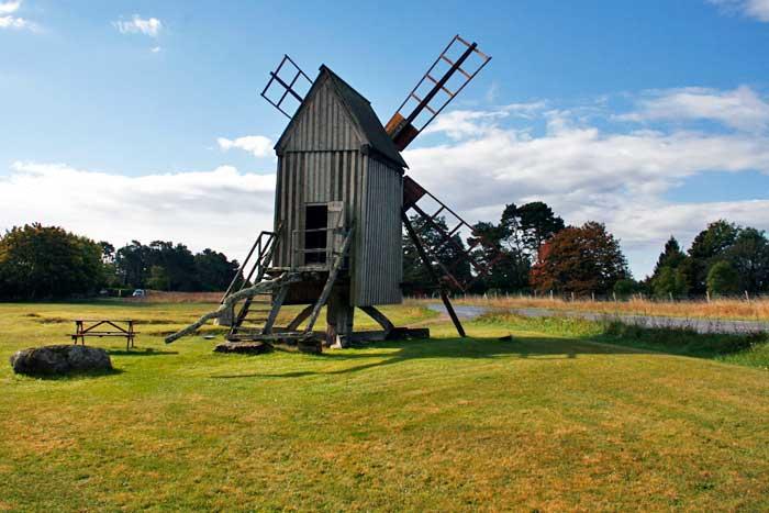 En Öland hay más de 350 molinos de viento antiguos