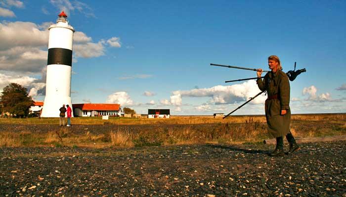 Faro de Ottenby, un lugar de mucho interés para los amantes de la ornitología.