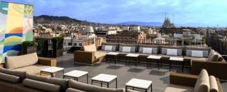 Terraza del Hotel Majestic de Barcelona, uno de los establecimientos participantes es la Semana de las terrazas de hoteles de Barcelona