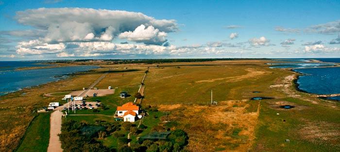 Vistas de la isla de Öland desde el faro de Ottenby