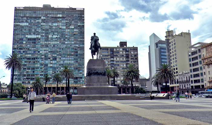 Plaza Independencia de Montevideo