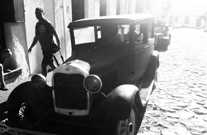 Las calles del casco antiguo de Colonia del Sacramento, en Uruguay, son empedradas