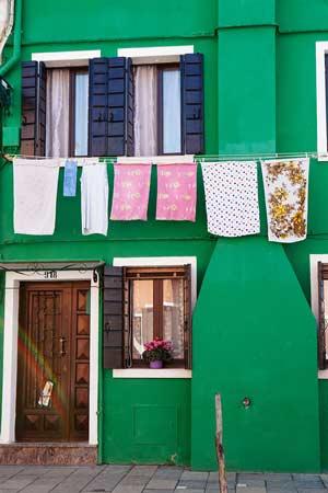 Fachada típica de Burano © Flaminia Pelazzi