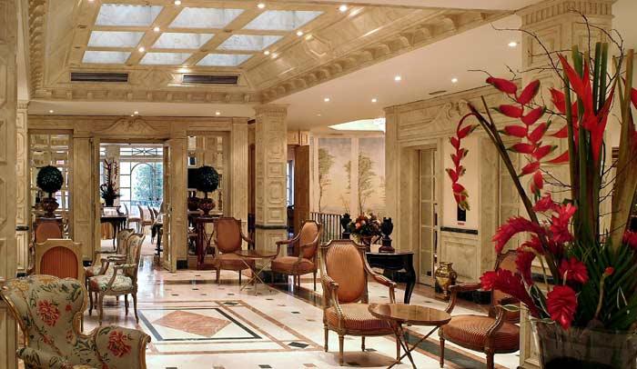 Recepción del Hotel Orfila