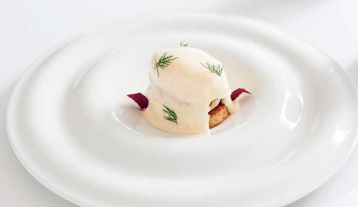 Huevos benedict del Restaurante Arola