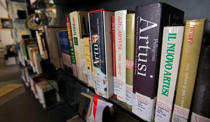 Biblioteca gastronómica en Casa Artusi