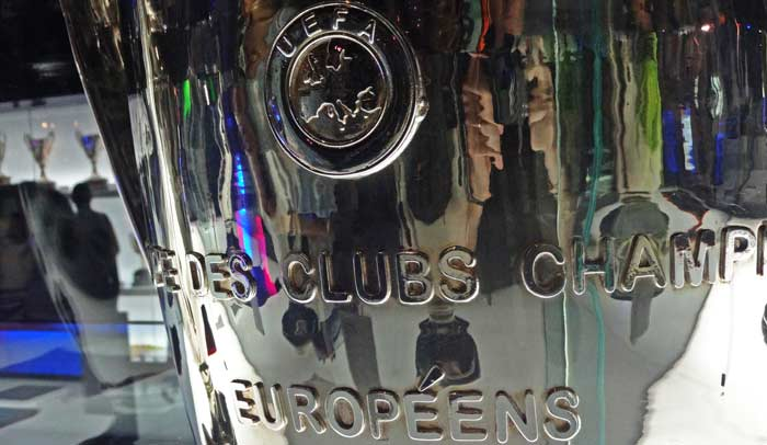 Una de las cuatro copas de Liga de Campeones que tiene en su haber el Fútbol Club Barcelona