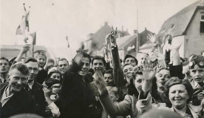 Escena de la liberación de Holanda durante la Segunda Guerra Mundial. Foto Liberation Route Europe Foundation.