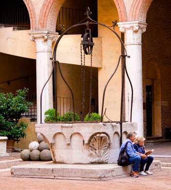 Interior Castillo Estense de Ferrara