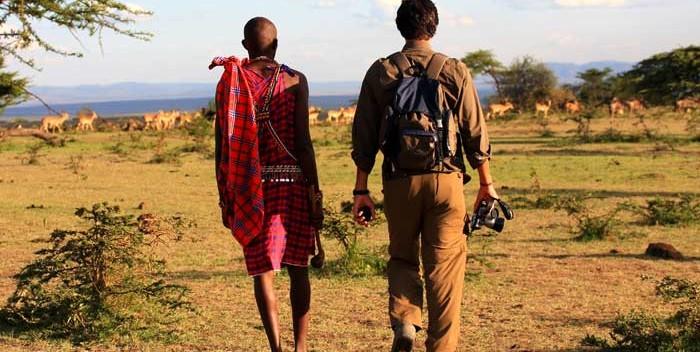 Safari a pie. © Kandili Camp