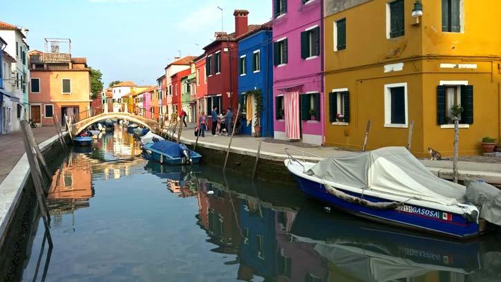Burano, isla de la laguna de Venecia