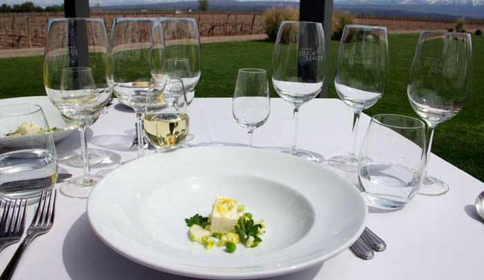 Terrina de cítricos y queso blanco y una ensalada marinada de hierbas, manzanas verdes y vegetales de invierno © Andrea Sagués