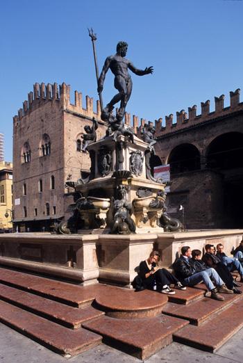 Fuente de Neptuno, en la Plaza Mayor de Bolonia