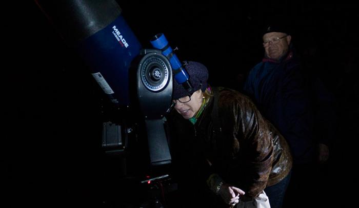 Cel de Poblet, actividad de observación de las estrellas organizada por Sternalia.Foto: Sternalia/Anna Bosch