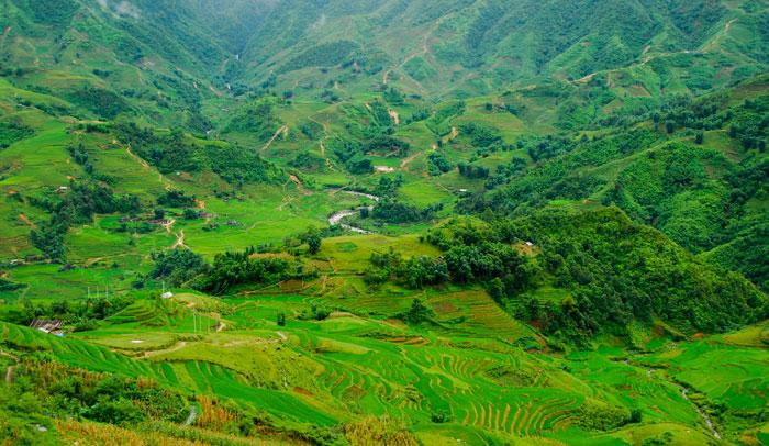 Paisaje del norte de Vietnam