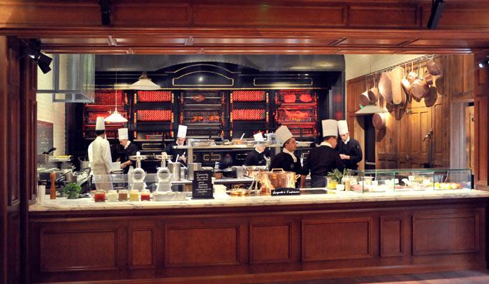 En la Rostissérie se cocinan los platos al momento y al gusto del comensal