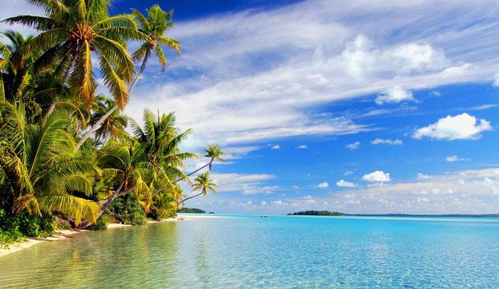 Aitutaki, una de las Islas Cook meridionales
