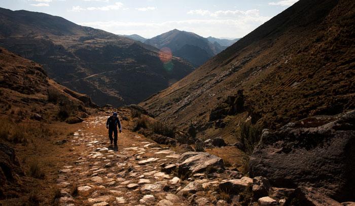 Qhapaq Ñan o Gran Camino Inca. Foto © Daniel Silva
