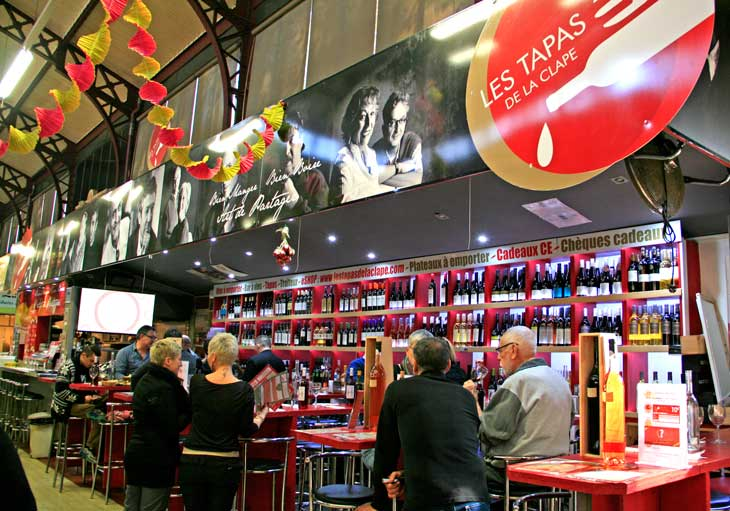 Les Tapas de la Clape, una de las paradas del mercado de abastos de Narbona