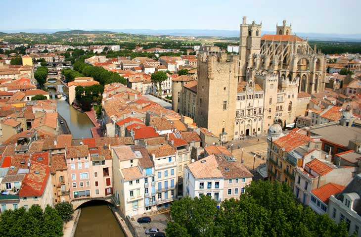 Vista aérea de Narbona © Jean Marc Colombier