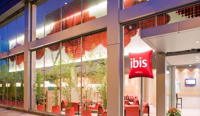 Fachada Hotel Ibis Plaza Glòries 22@