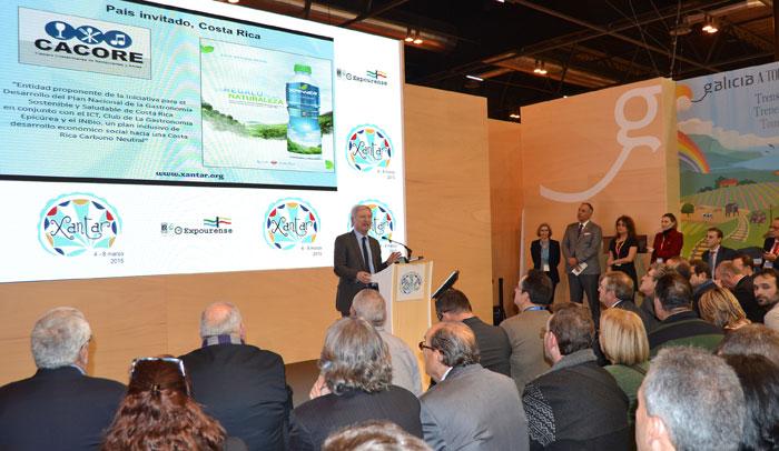Presentación de Costa Rica como país invitado en Xantar 2015 durante la pasada edición de la Feria Internacional de Turismo, Fitur