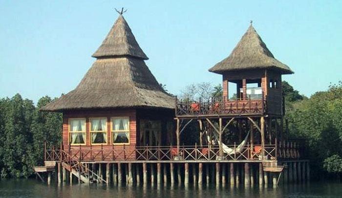 Casa típica de Gambia
