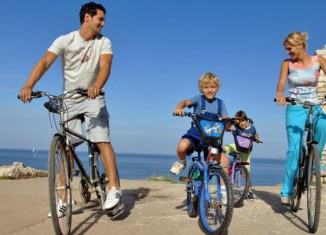 Las familias también pueden recorrer Croacia en bicicleta