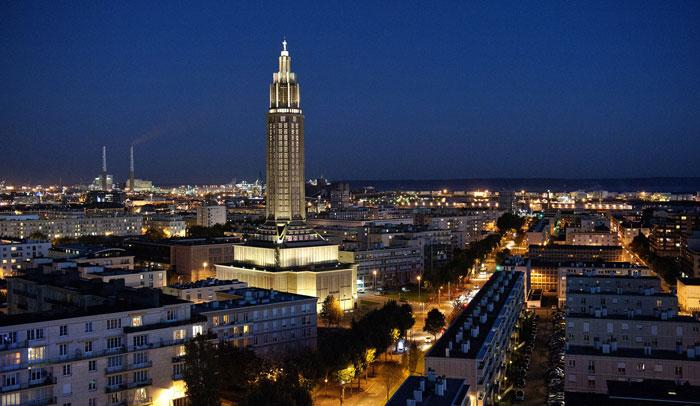 Vista nocturna de Le Havre ® Hilke Maunder OTAH