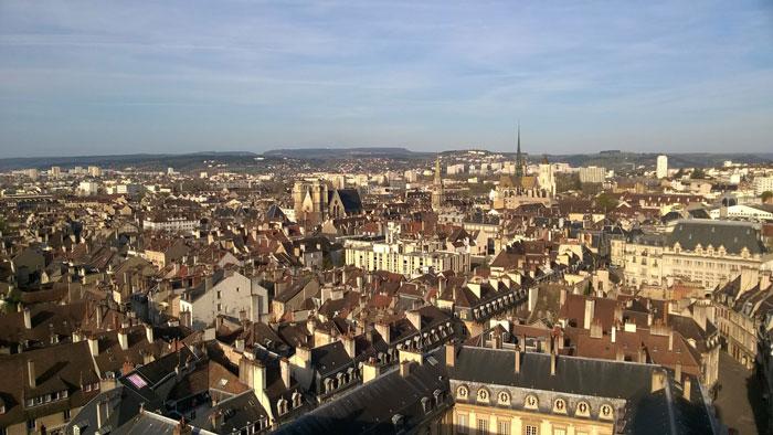 Panorámica de Dijon desde la Torre Philippe Le Bon