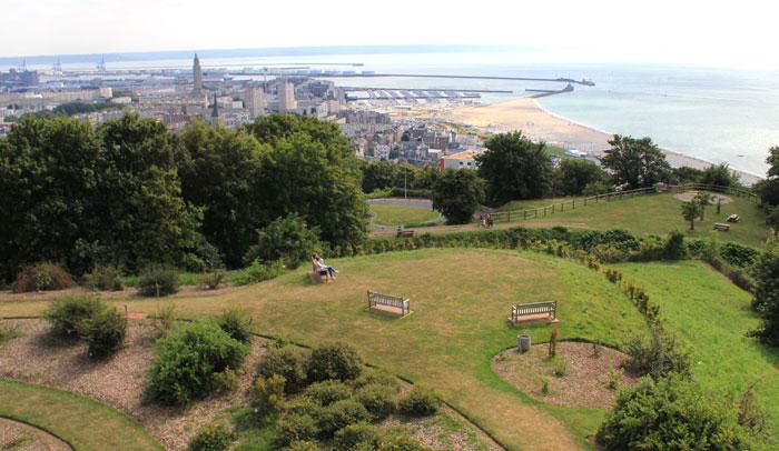 Vista de Le Havre desde los Jardines Colgantes ® Patrick Boulen OTAH