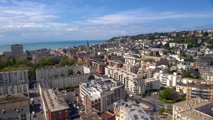 Vistas de Le Havre desde la Torre del Ayuntamiento