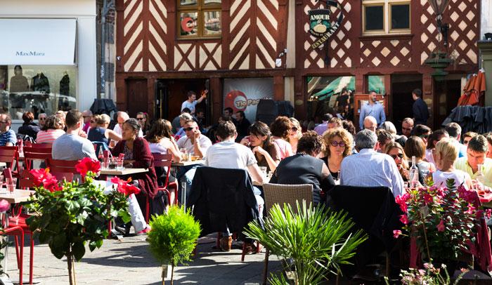 Casas de madera típicas de Rennes ® Destination Rennes, Bruno Mazodier.
